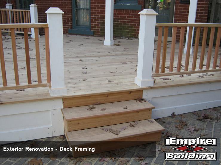 Build Deck - Install Deck Framing