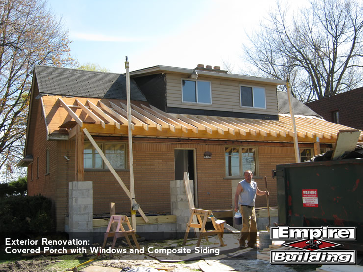 Covered Porch - Composite Siding