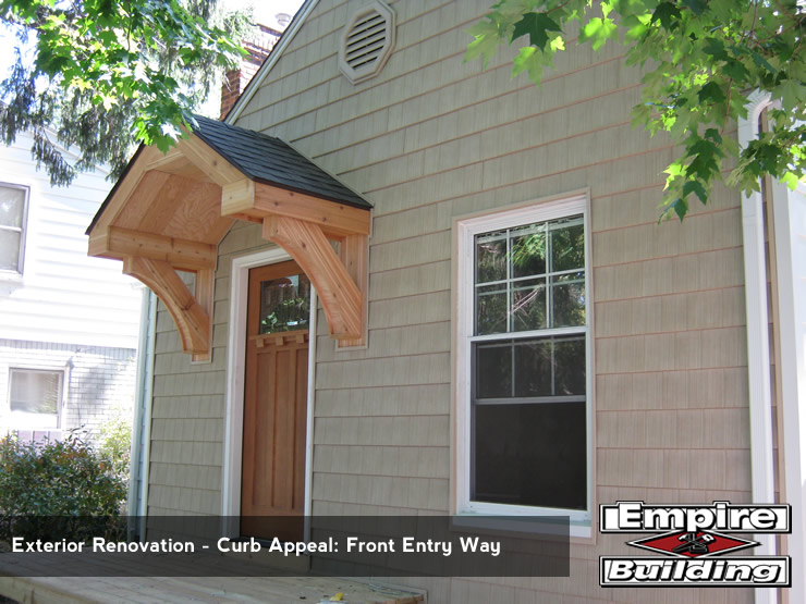 Exterior Renovation - Instant Curb Appeal - Front Entry Way